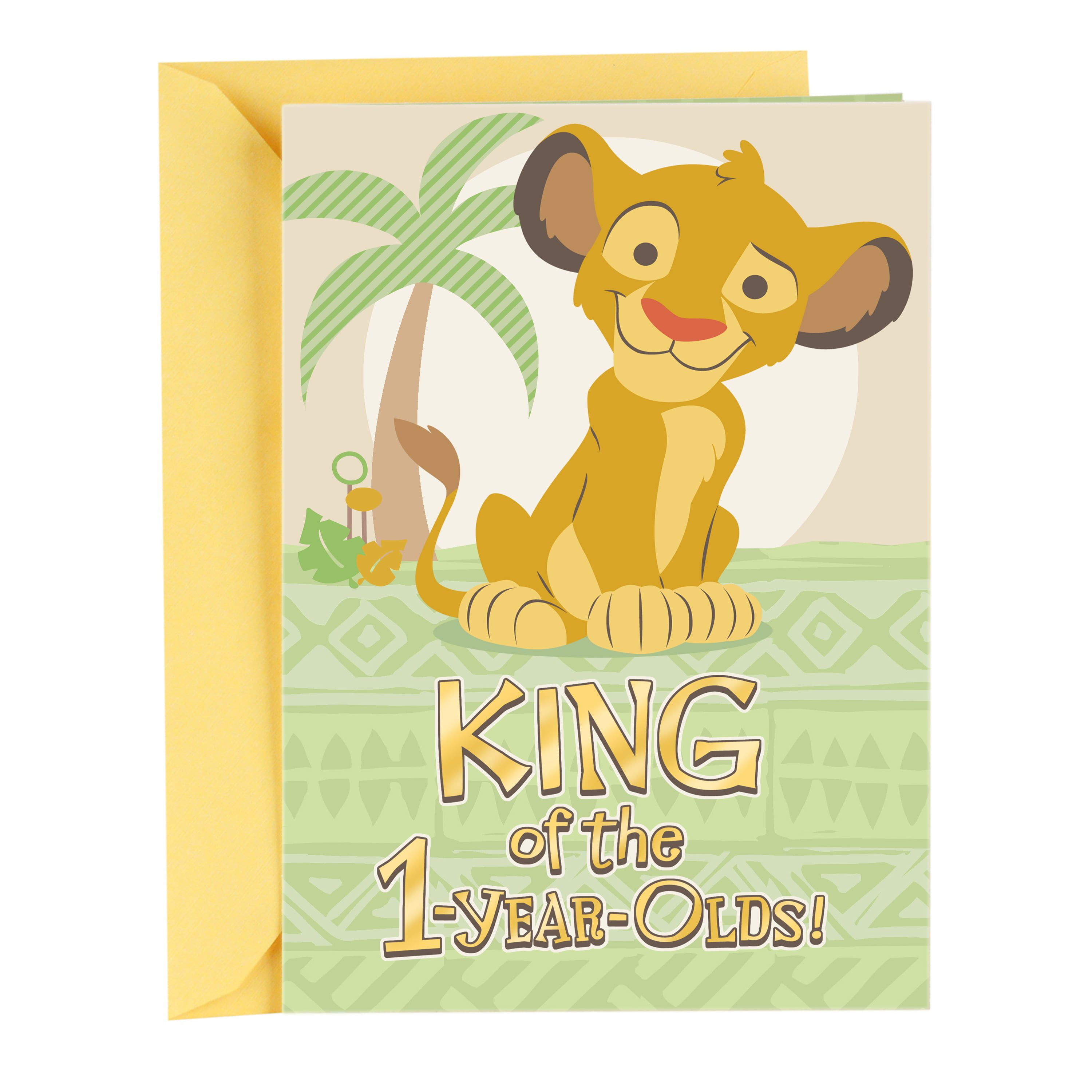 Hallmark First Birthday Greeting Card For A Boy Lion King