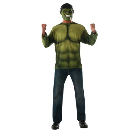 Marvel Avengers: Infinity War Hulk Long Sleeve Mens Top - Mens Hulk Costume