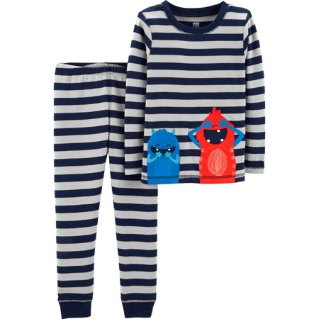 Long Sleeve Cotton Tight Fit Pajamas, 2-piece Set (Baby Boys & Toddler Boys)