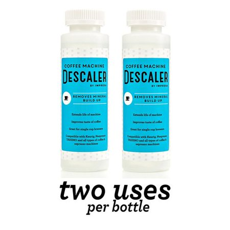 Best Keurig Descaler (2 Pack) Universal Descaling Solution for Nespresso, all single use Coffee Espresso Machines - Made in USA - 2 Uses Per Bottle deal