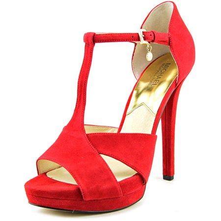3b2d4f7ba992 MICHAEL Michael Kors - Michael Michael Kors Francoise T-Strap Sandals Suede  Platform Sandal - Walmart.com