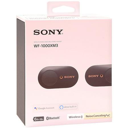 Sony WF-1000XM3 True Wireless Noise-Canceling In-Ear Earphones Black