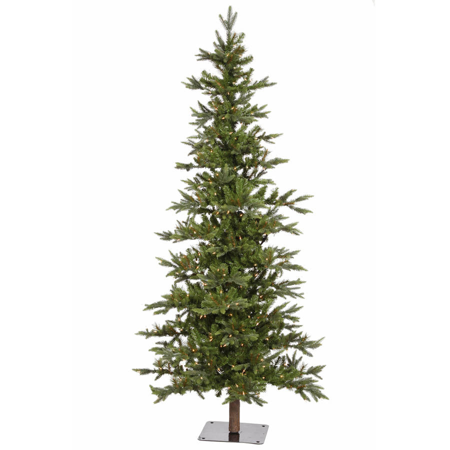 Vickerman Pre-Lit 6' Shawnee Fir Artificial Christmas Tree Alpine Artificial Christmas Tree, LED, Warm White Lights