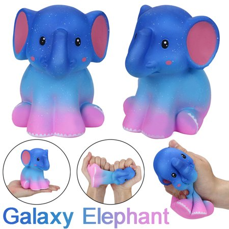Mosunx Squishy Jumbo Galaxy Elephant Soft Slow Rising Cream Scented Stress Relief Toy - Squishy Stores