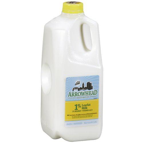 Arrowhead 1% Lowfat Milk, 0.5 gal