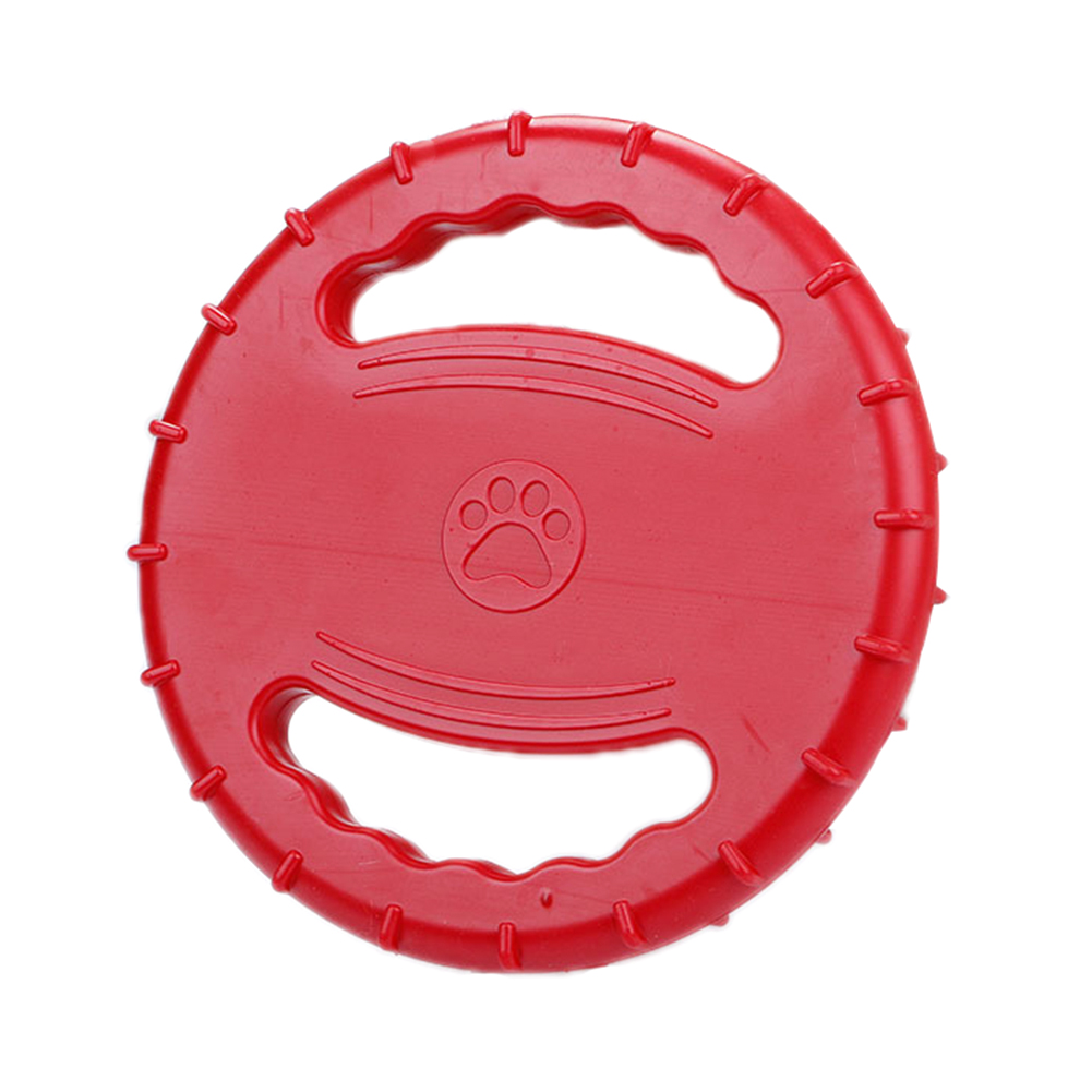 Pet Training Frisbee Dog Frisbee Dog Toys Pet Teeth Training Toys Natural Rubber Floatable Frisbee for Medium-size and Large Dogs (red)