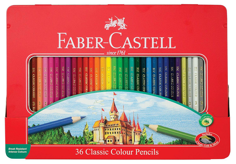 fabercastell classic colored pencils tin set 36 vibrant
