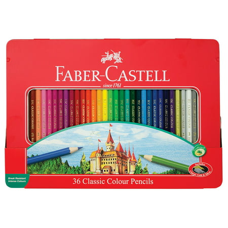Faber-Castell Classic Colored Pencils Tin Set, 36 Vibrant Colors In Sturdy Metal Case - Premium Children's Art Products, 36 VIBRANT COLORS: Includes highly.., By Faber Castell (Faber Castell Colored Pencils)