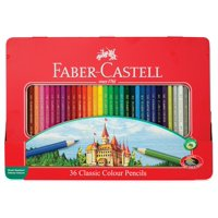 Faber-Castell Classic Colored Pencils Tin Set, 36 Vibrant Colors In Sturdy Metal Case - Premium Children's Art Products, 36 VIBRANT COLORS: Includes highly.., By Faber Castell
