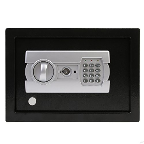 Ivation Electronic Gun Drawer Safe w/Full-Digit Keypad & Override Keys - Solid Steel Construction & Hidden Wall/Floor Anchoring Design - Runs on 4 AA Batteries (Included)