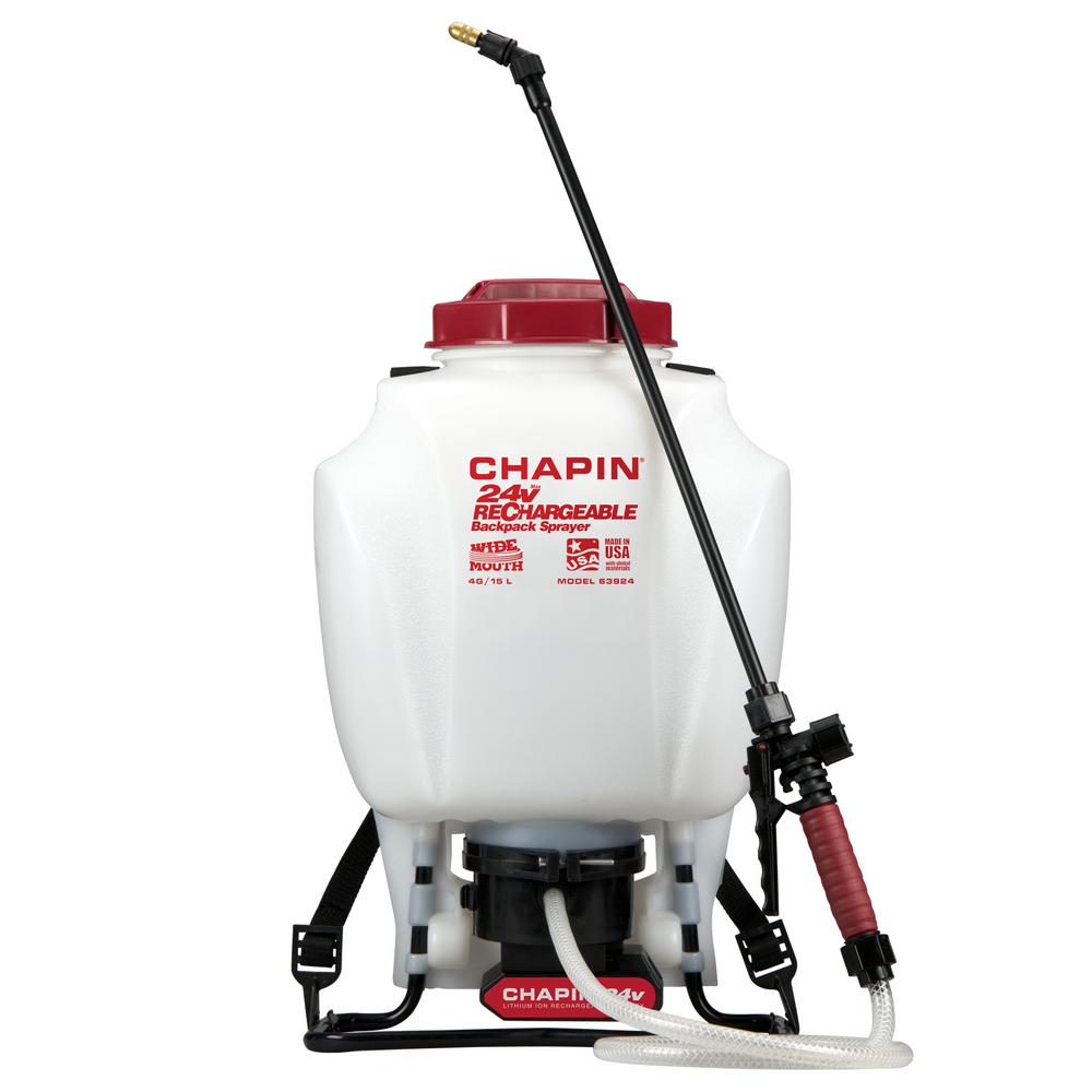 Chapin 63924 4-Gallon 24v Battery Backpack Sprayer Powered by Chapin