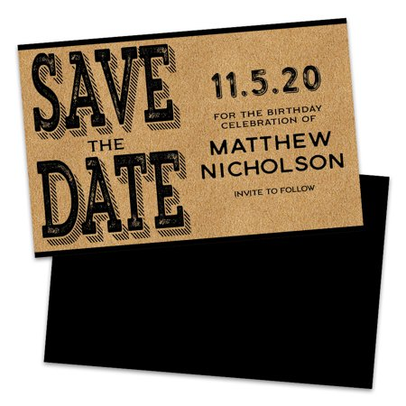 Personalized Kraft Style Save The Dates (Wedding Invitations Country Style)