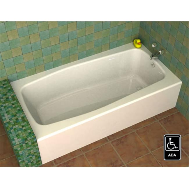 SONG AK-603014-70-L Bravo 60 x 30 In. Front Apron Bathtub - Left Hand, White
