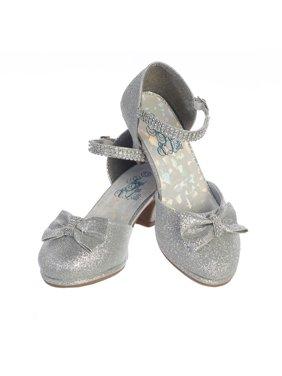 2c1f1abdf06 Product Image Girls Silver Glitter Rhinestone Strap Bella Dress Shoes