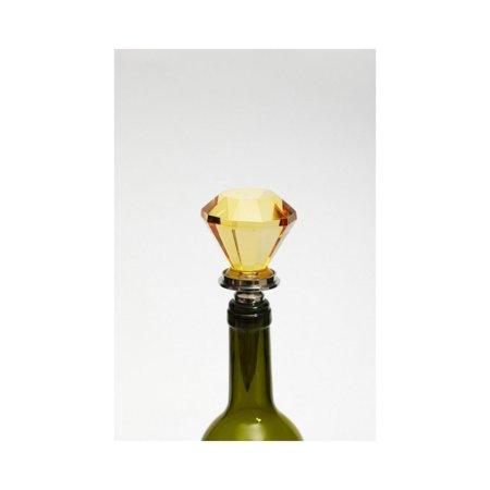 """6.5"""" Verre Ambre jaune Bouton de porte bouchon de bouteille de vin - image 1 de 1"""