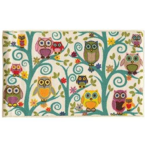 Style Haven Funky Owls Multicolor Area Rug (2'2 x 3'9)