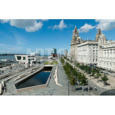 Liverpool Pierhead, Part of the UNESCO World Heritage Site Print Wall Art By (Liverpool Maritime Mercantile City World Heritage Site)