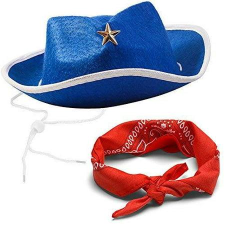 87bb2d61 Funny Party Hats Cowboy Party Hats - Sheriff Costume for Kids - Cowboy Hats  - Dress up Hats - Walmart.com