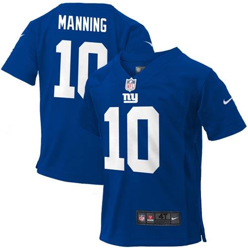 Eli Manning New York Giants Nike Toddler Game Jersey - Royal Blue - 2T