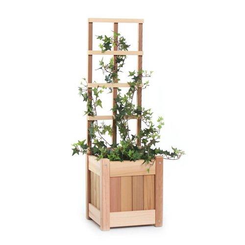 All Things Cedar Square Wood Planter Box - Western Red Cedar