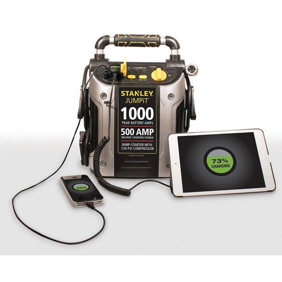 Stanley 1000 500 Amp Jump Starter W 120 Psi Compressor J5c09