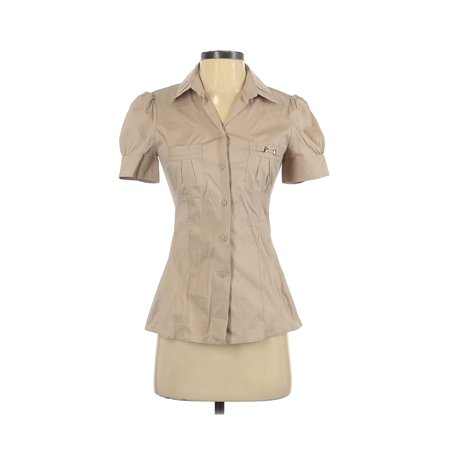 Pre-Owned Gucci Women's Size 38 Short Sleeve Button-Down Shirt