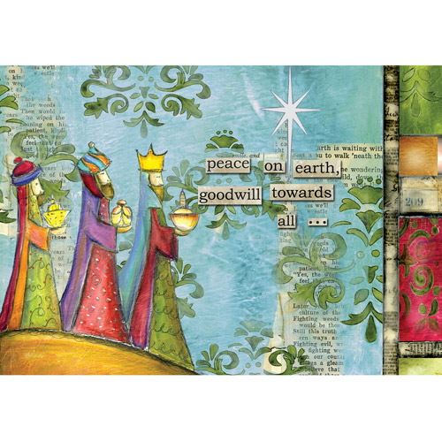 "Artisan ""Peace on Earth"" Petite Christmas Cards"