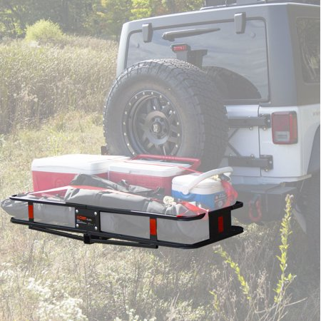Curt Hitch 18151 Trailer Hitch Cargo Carrier  Mounts In 2 Inch Receiver; 500 Pound Capacity; 60 Inch x 20 Inch x 6 Inch; Mesh; Folding  - image 3 of 7