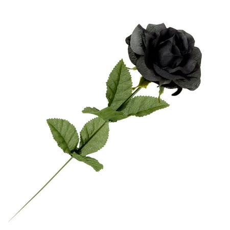 Alchemy Gothic ROSE1 - Black Imitation Rose  (Black Rose Gothic)