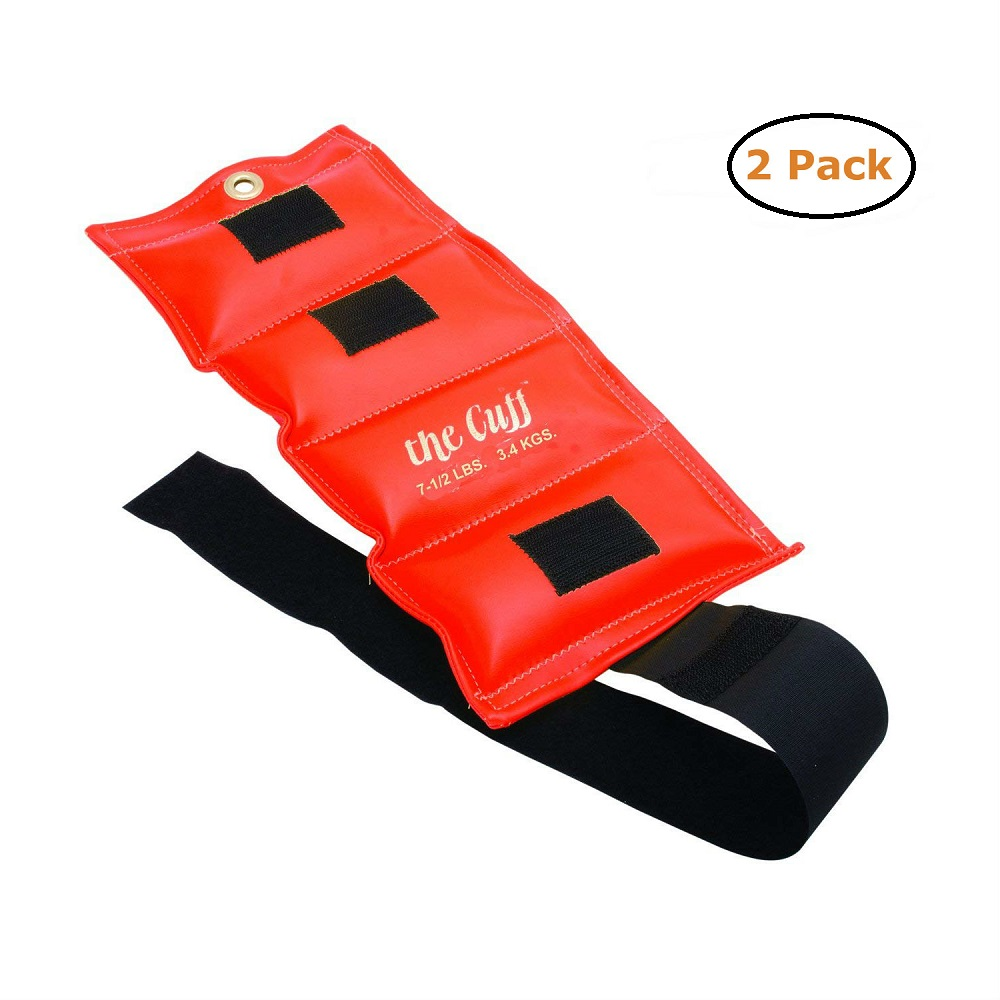 The Cuff Original Ankle and Wrist Weight - 7.5 lb - Orange - Pack of 2