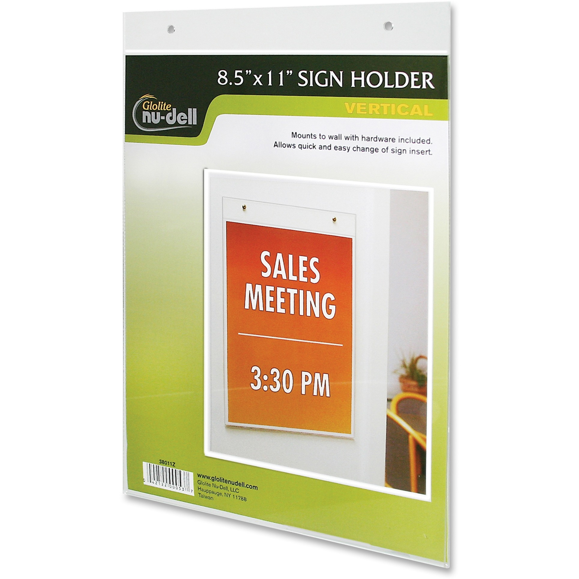 Nu-Dell Acrylic Sign Holders, Clear, 1 Each (Quantity)