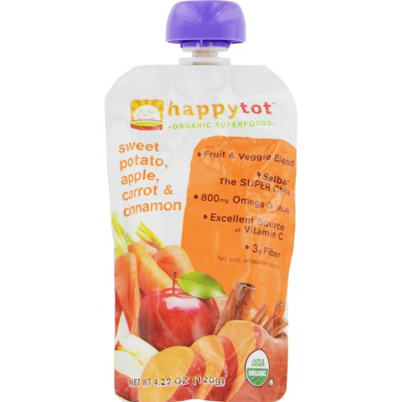 4 Pack Hybaby Organic Super Foods Les Sweet Potato Carrots