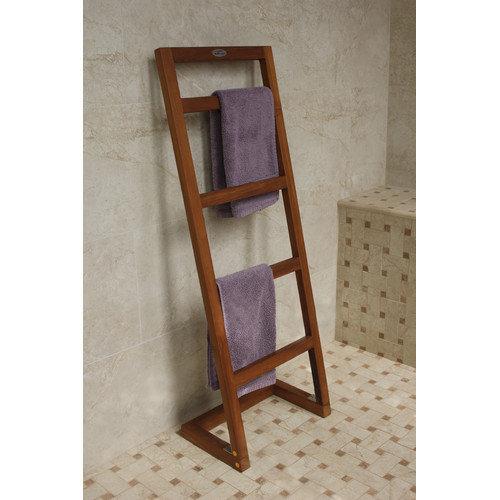 Aqua Teak Free Standing Angled Towel Stand Walmart Com