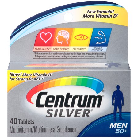 Centrum® Silver® Men Multivitamin/Multimineral Supplement 40 ct