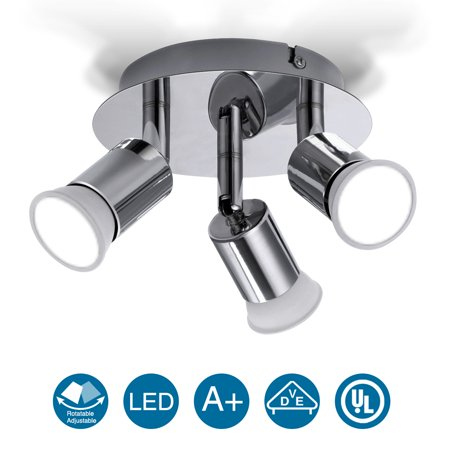 3 Way Multi-Directional LED Rotatable Ceiling Light Spotlight Kitchen Pendant Lighting Shop Display Bar Fixture Lamp