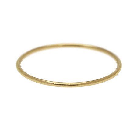 Stacking Ring, 1mm Round Wire / US Size 4, 1 Piece, 14K Gold Filled - Wire Rings