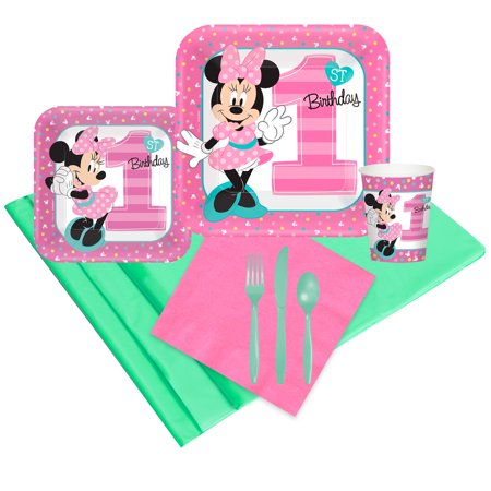 Disney Minnie Mouse 1st Birthday Party Pack - Baby Minnie Mouse 1st Birthday Pinata