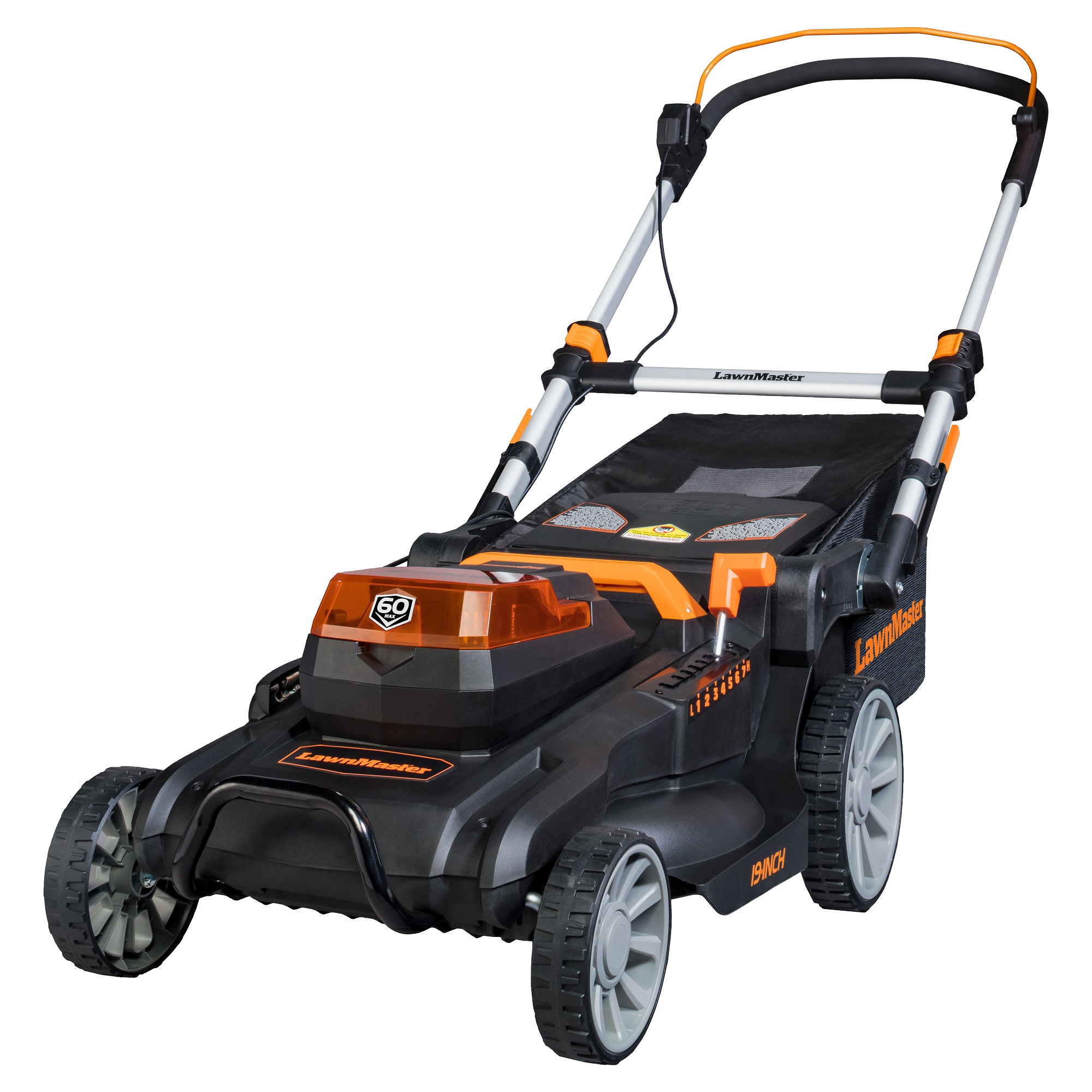 """LawnMaster 60V 19"""" Cordless Lawn Mower, CLMFT6018A by Cleva North America, Inc."""