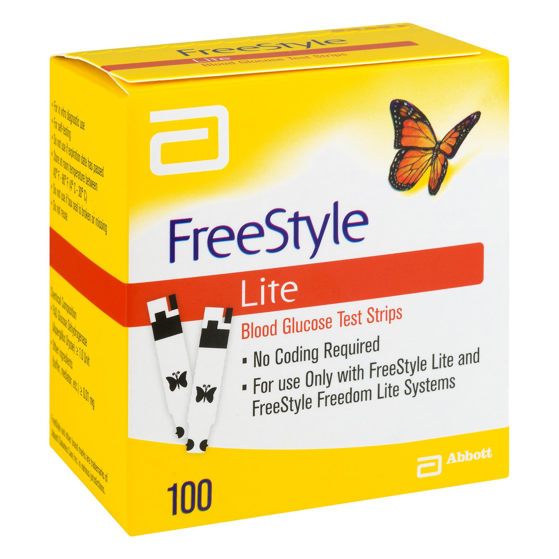 FreeStyle Lite Blood Glucose Test Strips, 100 Ct