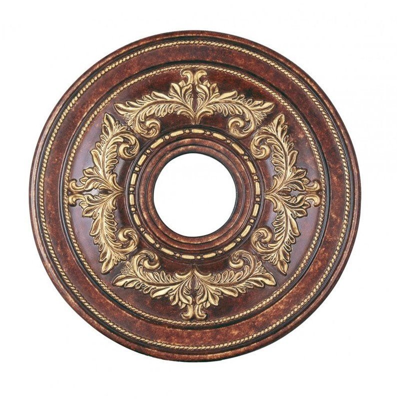 Livex 8205-63 Ceiling Medallion Ceiling Medallion Verona Bronze with Aged Gold Leaf Accents