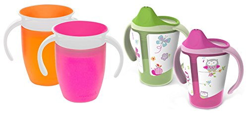 Born Free Grow with Me 6 Ounce Training Cups with Munchkin Miracle Cup Traine... by Born Free