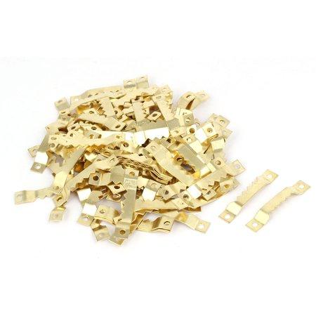 Uxcell Cross Stitch Picture Frame Metal Sawtooth Hanger Gold Tone 40mmx7mmx4mm 100pcs Cross Back Metal Frame