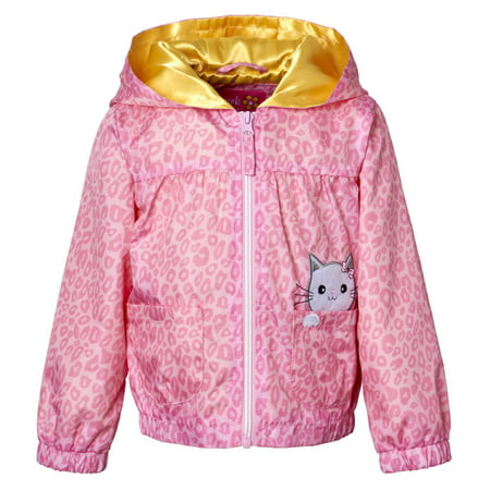 Baby Girl Cheetah Print Windbreaker Jacket
