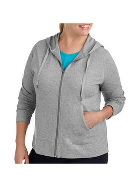 Womens Plus Size Dri More Zip Up Hoodie