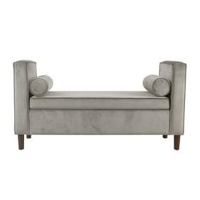 Enjoyable White Split Top Cushioned Seating Storage Bench Creativecarmelina Interior Chair Design Creativecarmelinacom