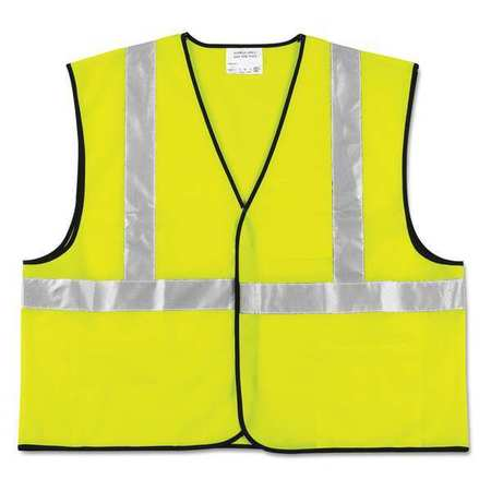 """Vest,Safety,2"""" Stripe,XXL,Lime MCR SAFETY VCL2SLXL2"""