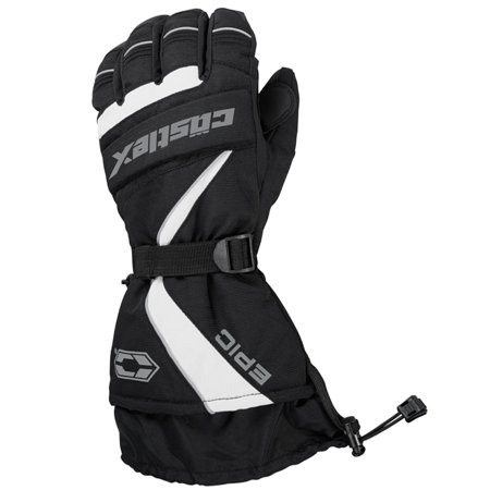 Castle X Racewear Epic Mens Snowmobile Gloves White