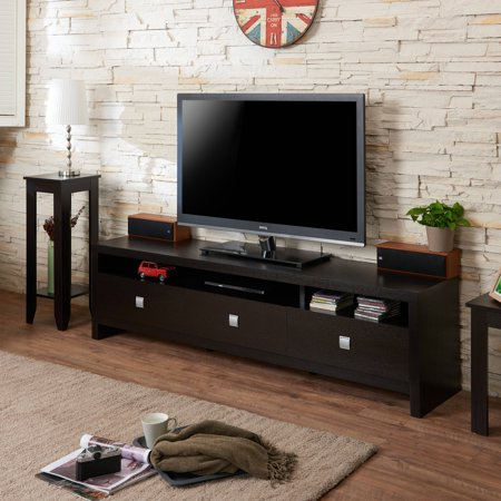 Furniture of America Angelina Contemporary 3-Drawer TV Stand for up to 72″, Multiple Colors