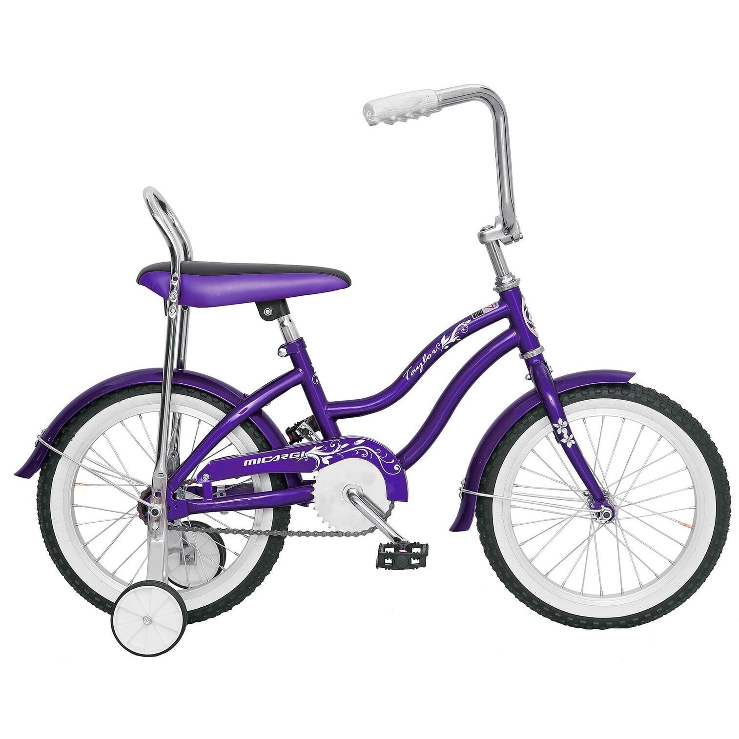 Micargi  Taylor Girls' Purple 16-inch Bike with Training ...