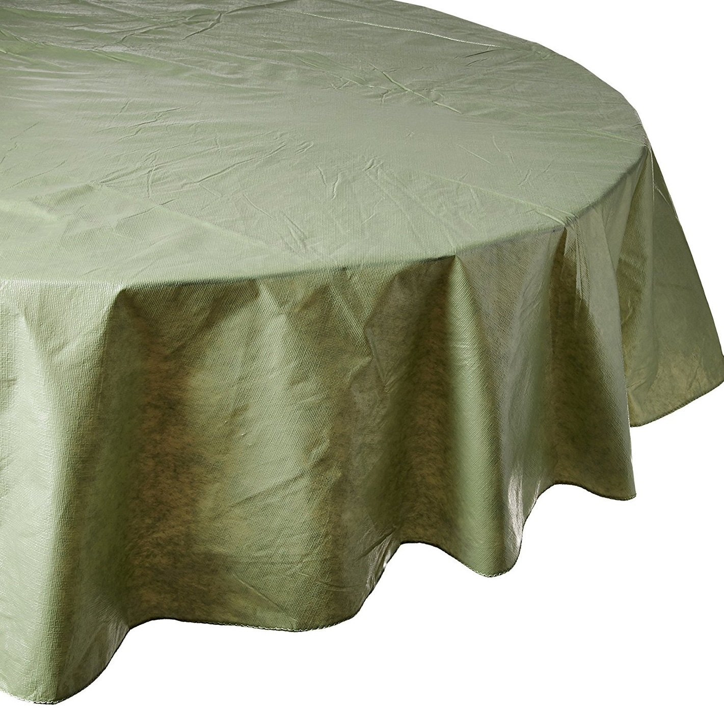 Beau Royal Bath Solid Color Vinyl Tablecloth With Polyester Flannel Backing,  Size 70 Round   Walmart.com